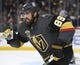 May 16, 2018; Las Vegas, NV, USA; Vegas Golden Knights right wing Alex Tuch (89) skates down the ice in game three of the Western Conference Final of the 2018 Stanley Cup Playoffs against the Winnipeg Jets at T-Mobile Arena. Mandatory Credit: Stephen R. Sylvanie-USA TODAY Sports