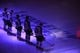 May 16, 2018; Las Vegas, NV, USA; The starting lineup of the Winnipeg Jets is pictured before the start of game three of the Western Conference Final of the 2018 Stanley Cup Playoffs against the Vegas Golden Knights at T-Mobile Arena. Mandatory Credit: Stephen R. Sylvanie-USA TODAY Sports