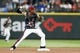 Jun 30, 2018; Seattle, WA, USA; Seattle Mariners second baseman Dee Gordon (9) attempts to turn a double play against the Kansas City Royals during the first inning at Safeco Field. The runner was safe for a fielders choice. Mandatory Credit: Joe Nicholson-USA TODAY Sports