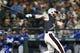 Jun 30, 2018; Seattle, WA, USA; Seattle Mariners right fielder Ben Gamel (16) hits a single against the Kansas City Royals during the third inning at Safeco Field. Mandatory Credit: Joe Nicholson-USA TODAY Sports