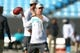 Aug 17, 2018; Charlotte, NC, USA; Miami Dolphins quarterback Ryan Tannehill (17) warms up prior to a game against the Carolina Panthers at Bank of America Stadium. Mandatory Credit: Jeremy Brevard-USA TODAY Sports