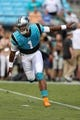 Aug 17, 2018; Charlotte, NC, USA; Carolina Panthers quarterback Cam Newton (1) runs out for warm ups before   the first quarter at Bank of America Stadium. Mandatory Credit: Jim Dedmon-USA TODAY Sports