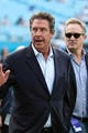 Aug 17, 2018; Charlotte, NC, USA; Former Miami Dolphin quarterback Dan Marino waves to fans during the first quarter between the Carolina Panthers and the Miami Dolphins at Bank of America Stadium. Mandatory Credit: Jim Dedmon-USA TODAY Sports
