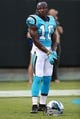 Aug 17, 2018; Charlotte, NC, USA; Carolina Panthers wide receiver Curtis Samuel (10) during warm ups at Bank of America Stadium against the Miami Dolphins. Mandatory Credit: Jim Dedmon-USA TODAY Sports