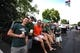 Aug 25, 2018; Fort Collins, CO, USA; Colorado State Rams fans tailgate outside of Canvas Stadium before a game against the Hawaii Warriors. Mandatory Credit: Ron Chenoy-USA TODAY Sports