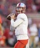 Aug 31, 2018; Madison, WI, USA; Western Kentucky Hilltoppers quarterback Drew Eckels (4) throws a pass during warm ups prior to the game against the Wisconsin Badgers at Camp Randall Stadium. Mandatory Credit: Jeff Hanisch-USA TODAY Sports
