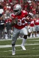 Sep 1, 2018; Columbus, OH, USA; Ohio State Buckeyes wide receiver Terry McLaurin (83) runs the ball against the Oregon State Beavers in the first half at Ohio Stadium against the Oregon State Beavers. Mandatory Credit: Rick Osentoski-USA TODAY Sports