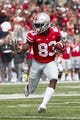 Sep 1, 2018; Columbus, OH, USA; Ohio State Buckeyes wide receiver Terry McLaurin (83) runs the ball against the Oregon State Beavers in the first half at Ohio Stadium. Mandatory Credit: Rick Osentoski-USA TODAY Sports