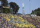 Sep 1, 2018; Berkeley, CA, USA; California Golden Bears student section during halftime against the North Carolina Tar Heels at California Memorial Stadium. Mandatory Credit: Kelley L Cox-USA TODAY Sports