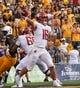 Sep 1, 2018; Laramie, WY, USA; Washington State Cougars quarterback Gardner Minshew (16) throws against the Wyoming Cowboys during the second quarter at Jonah Field War Memorial Stadium. Mandatory Credit: Troy Babbitt-USA TODAY Sports