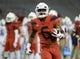 Sep 1, 2018; Tucson, AZ, USA; Arizona Wildcats wide receiver Shun Brown (6) warms up before playing the Brigham Young Cougars at Arizona Stadium. Mandatory Credit: Casey Sapio-USA TODAY Sports