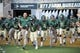 Sep 1, 2018; Waco, TX, USA; The Baylor Bears team runs on to the field before a game against the Abilene Christian Wildcats at McLane Stadium. Mandatory Credit: Jerome Miron-USA TODAY Sports