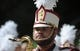 Sep 1, 2018; Chestnut Hill, MA, USA; A member of the Boston College Eagles marching band prior to a game against the Massachusetts Minutemen at Alumni Stadium. Mandatory Credit: Bob DeChiara-USA TODAY Sports