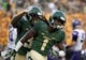 Sep 1, 2018; Waco, TX, USA; Baylor Bears safety Verkedric Vaughns (1) and safety Chris Miller (3) in action during the game against the Abilene Christian Wildcats at McLane Stadium. Mandatory Credit: Jerome Miron-USA TODAY Sports