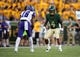 Sep 1, 2018; Waco, TX, USA; Abilene Christian Wildcats wide receiver Chase Cokley (16) and Baylor Bears cornerback Grayland Arnold (4) in action during the game at McLane Stadium. Mandatory Credit: Jerome Miron-USA TODAY Sports