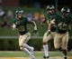 Sep 1, 2018; Waco, TX, USA; Baylor Bears linebacker Terrel Bernard (26) and linebacker Chad Kelly (49) in action during the game against the Abilene Christian Wildcats at McLane Stadium. Mandatory Credit: Jerome Miron-USA TODAY Sports