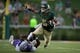 Sep 1, 2018; Waco, TX, USA; Baylor Bears wide receiver Jalen Hurd (5) in action during the game against the Abilene Christian Wildcats at McLane Stadium. Mandatory Credit: Jerome Miron-USA TODAY Sports