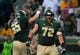 Sep 1, 2018; Waco, TX, USA; Baylor Bears offensive lineman Christian Beard (65) and offensive lineman Blake Blackmar (72) in action during the game against the Abilene Christian Wildcats at McLane Stadium. Mandatory Credit: Jerome Miron-USA TODAY Sports