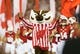 Aug 31, 2018; Madison, WI, USA; Wisconsin Badgers mascot Bucky Badger runs onto the field prior to the game against the Western Kentucky Hilltoppers at Camp Randall Stadium. Mandatory Credit: Jeff Hanisch-USA TODAY Sports