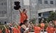 Sep 8, 2018; Blacksburg, VA, USA; VirginiaTechHokies cheerleaders perform before a game against the William & Mary Tribe at Lane Stadium. Mandatory Credit: Lee Luther Jr.-USA TODAY Sports