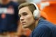 Sep 8, 2018; Syracuse, NY, USA; Syracuse Orange quarterback Eric Dungey (2) looks on from the bench prior to a game against the Wagner Seahawks at the Carrier Dome. Mandatory Credit: Rich Barnes-USA TODAY Sports
