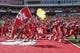 Sep 8, 2018; Houston, TX, USA; Houston Cougars players run onto the field before a game against the Arizona Wildcats at TDECU Stadium. Mandatory Credit: Troy Taormina-USA TODAY Sports