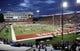 Sep 8, 2018; Pullman, WA, USA; San Jose State Spartans and the Washington State Cougars warm up before a football game at Martin Stadium. Mandatory Credit: James Snook-USA TODAY Sports