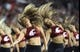 Sep 8, 2018; Pullman, WA, USA; Washington State Cougars dance member perform during a game against the San Jose State Spartans at Martin Stadium. Mandatory Credit: James Snook-USA TODAY Sports