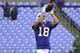 Sep 9, 2018; Baltimore, MD, USA; Buffalo Bills wide receiver Andre Holmes (18) catches a pass before the against the Baltimore Ravens at M&T Bank Stadium. Mandatory Credit: Tommy Gilligan-USA TODAY Sports