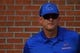 Sep 1, 2018; Troy, AL, USA; Boise State Broncos head coach Bryan Harsin before the game against the Troy Trojans at Veterans Memorial Stadium. Mandatory Credit: Christopher Hanewinckel-USA TODAY Sports