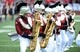 Sep 1, 2018; Troy, AL, USA; A member of the Troy Trojans band performs before the game against the Boise State Broncos at Veterans Memorial Stadium. Mandatory Credit: Christopher Hanewinckel-USA TODAY Sports