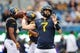 Sep 8, 2018; Morgantown, WV, USA; West Virginia Mountaineers quarterback Will Grier (7) warms up prior to their game against the Youngstown State Penguins at Mountaineer Field at Milan Puskar Stadium. Mandatory Credit: Ben Queen-USA TODAY Sports