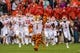 Sep 8, 2018; College Station, TX, USA; The Clemson Tigers take the field to face the Texas A&M Aggies at Kyle Field. Mandatory Credit: Jerome Miron-USA TODAY Sports