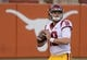 Sep 15, 2018; Austin, TX, USA; Southern California Trojans quarterback JT Daniels (18) throws the ball during the game against the Texas Longhorns lf at Darrell K Royal-Texas Memorial Stadium. Mandatory Credit: Kirby Lee-USA TODAY Sports
