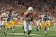 Sep 15, 2018; Austin, TX, USA; Texas Longhorns wide receiver Lil'Jordan Humphrey (84) rushes for a touchdown against the Southern California Trojans during the first half at Darrell K Royal-Texas Memorial Stadium. Mandatory Credit: Kirby Lee-USA TODAY Sports
