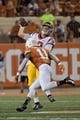 Sep 15, 2018; Austin, TX, USA; Southern California Trojans quarterback JT Daniels (18) passes against Texas Longhorns defensive back P.J. Locke III (11) during the first half at Darrell K Royal-Texas Memorial Stadium. Mandatory Credit: Kirby Lee-USA TODAY Sports