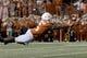 Sep 15, 2018; Austin, TX, USA; Texas Longhorns wide receiver Devin Duvernay (6) leaps for the ball against the Southern California Trojans during the first half at Darrell K Royal-Texas Memorial Stadium. Mandatory Credit: Kirby Lee-USA TODAY Sports