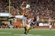 Sep 15, 2018; Austin, TX, USA; Texas Longhorns wide receiver Collin Johnson (9) catches a pass against Southern California Trojans cornerback Isaiah Langley (24) during the second half at Darrell K Royal-Texas Memorial Stadium. Mandatory Credit: Kirby Lee-USA TODAY Sports