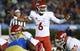 Sep 15, 2018; Pasadena, CA, USA; Fresno State Bulldogs quarterback Marcus McMaryion (6) calls a play at the line of scrimmage during the third quarter against the UCLA Bruins at Rose Bowl. Mandatory Credit: Robert Hanashiro-USA TODAY Sports