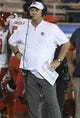 Sep 15, 2018; Pasadena, CA, USA; Fresno State Bulldogs head coach Jeff Tedford on the sidelines during the third quarter against the UCLA Bruins at Rose Bowl. Mandatory Credit: Robert Hanashiro-USA TODAY Sports