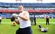 Sep 16, 2018; Nashville, TN, USA; Houston Texans defensive end J.J. Watt (99) plays catch with fans before the game against the Tennessee Titans at Nissan Stadium. Mandatory Credit: Christopher Hanewinckel-USA TODAY Sports