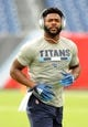 Sep 16, 2018; Nashville, TN, USA; Tennessee Titans defensive back Malcolm Butler (21) before the game against the Houston Texans at Nissan Stadium. Mandatory Credit: Christopher Hanewinckel-USA TODAY Sports