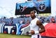 Sep 16, 2018; Nashville, TN, USA; Houston Texans quarterback Deshaun Watson (4) takes the field to warmup before the game against the Tennessee Titans at Nissan Stadium. Mandatory Credit: Christopher Hanewinckel-USA TODAY Sports