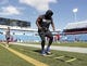 Sep 16, 2018; Orchard Park, NY, USA; Buffalo Bills running back LeSean McCoy (25) before a game against the Los Angeles Chargers at New Era Field. Mandatory Credit: Timothy T. Ludwig-USA TODAY Sports