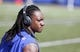 Sep 16, 2018; Orchard Park, NY, USA; Buffalo Bills linebacker Tremaine Edmunds (49) on the field before a game against the Los Angeles Chargers at New Era Field. Mandatory Credit: Timothy T. Ludwig-USA TODAY Sports