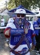 Sep 16, 2018; Orchard Park, NY, USA; Buffalo Bills fan Poncho Billa before a game against the Los Angeles Chargers at New Era Field. Mandatory Credit: Timothy T. Ludwig-USA TODAY Sports