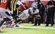 Sep 16, 2018; Denver, CO, USA; Oakland Raiders wide receiver Martavis Bryant (12) dives after a reception in the second quarter against the Denver Broncos at Broncos Stadium at Mile High. Mandatory Credit: Ron Chenoy-USA TODAY Sports
