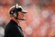 Sep 16, 2018; Denver, CO, USA; Oakland Raiders head coach Jon Gruden looks on in the first quarter against the Denver Broncos at Broncos Stadium at Mile High. Mandatory Credit: Isaiah J. Downing-USA TODAY Sports