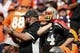 Sep 16, 2018; Denver, CO, USA; Oakland Raiders fans react after a play in the second quarter against the Denver Broncos at Broncos Stadium at Mile High. Mandatory Credit: Isaiah J. Downing-USA TODAY Sports