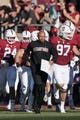 August 31, 2018; Stanford, CA, USA; Stanford Cardinal head coach David Shaw leads his team onto the field before the game against the San Diego State Aztecs at Stanford Stadium. Mandatory Credit: Kyle Terada-USA TODAY Sports
